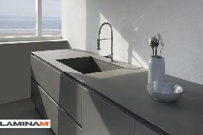 Тонкий керамогранит Laminam Calce с эффектом штукатурки и бетона