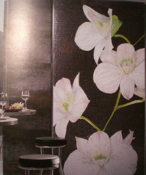 CHINESE ORCHID JQHO28 1x2m Панно из мозаики Bars Crystal Mosaic