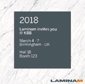Laminam на выставке KBB Birmingham 2018 в Англии