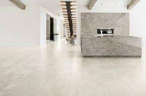 Большие керамогранитные плиты Ultra с эффектом цемента и смолы