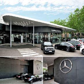 Laminam выбрали для облицовки салона Mercedes-Benz